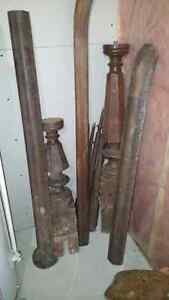 Very old wood railing