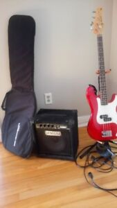Bass 3/4 Jay Turser et Ampli Fender Rumble 15