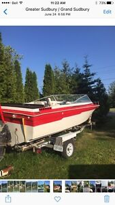 16 foot Thundercraft with 165 Mercruiser and trailer