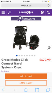 Graco click connect stroller,car seat and base