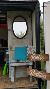 Entrance way door with bench