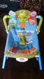 chaise  vibrante, berçante ,musical, évolutive