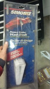 Pressure Washer Wash Brush and extra Nozzle Wand