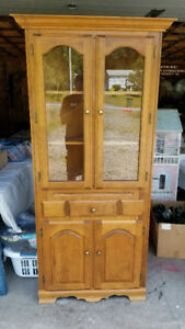Solid Birch Corner China / Curio Cabinet