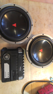 "12"" Kenwood Excelon subs and Amp"