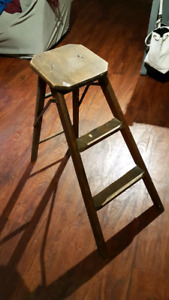 Two step vintage ladder! Great decor piece!