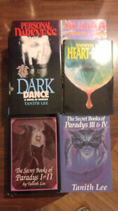 6 Hardcover Books by Tanith Lee - Horror