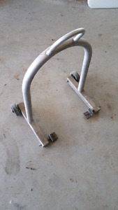 Aluminum motorcycle stand