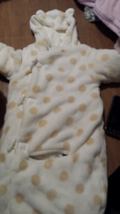 3-6 month carseat snowsuit