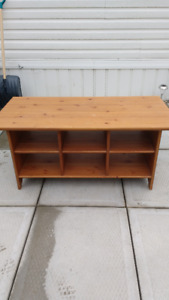Coffee Table with Cubbies