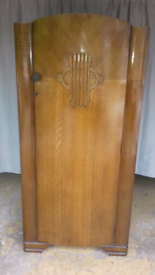 Small Art Deco Wardrobe by Lebus in Excellent Condition