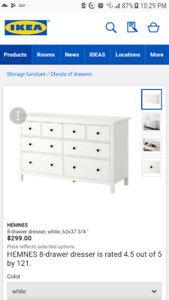 Ikea Hemnes 8 Drawer Set - White