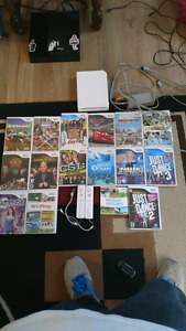 Wii w/ hookups games and accesories