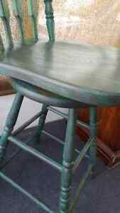 Solid Oak Swivel Bar Stools Painted and Distressed Kitchener / Waterloo Kitchener Area image 4