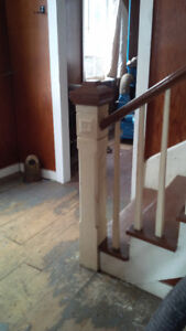 Handrail, spindles, and newel Salvaged Out of a 1878 House