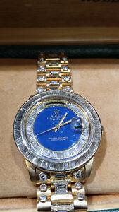Men's 18K Gold Rolex President Watch--Diamonds Everywhere
