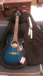 "Electric Blue ""Tradition"" Acoustic/Electric Guitar"