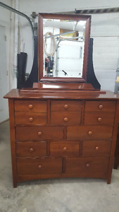 REDUCED MUST SELL Shaker Style  black and Cherry Bedroom suite