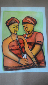 Souh African African Art Painting Original
