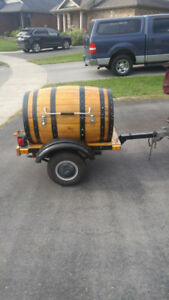 Custom Made Whisky Barrel Trailer