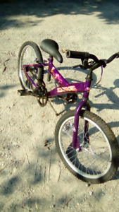 Girls bicycle, 20 inch rims