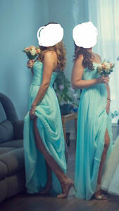 Beautiful turquoise PROM / BRIDESMAID dress