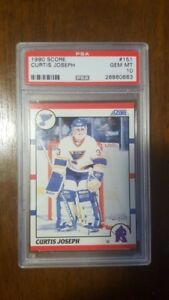 CURTIS JOSEPH .... GRADED .... PSA GEM MINT 10 .... Score ROOKIE