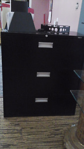3 drawer lateral filing cabinet.