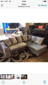 Velvet corner sofa