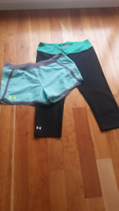 Under Armour Package!! UA Shorts + Yoga Pants, Women Size M
