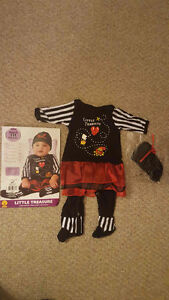 Baby girl pirate outfit Halloween costume 3-6 M