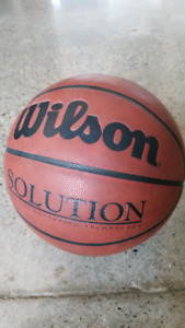 Wilson 'The Solution' Leather Basketball