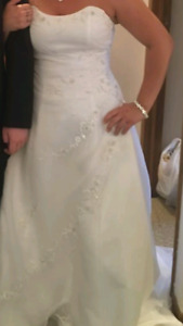 Wedding dress size 12 corset style