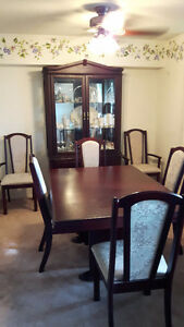 solid wood dining room suite