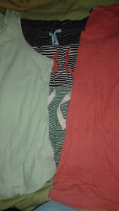 Old navy ladies small tanks (2) and pj shorts (3)