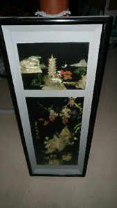 Very old chinese glass painting