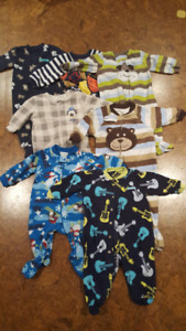 3-6/6 month footed jammies
