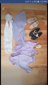 Dance items size 6-8 and size 12 tap and ballet shoes
