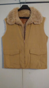 Warm Tan Vest  -  Man's size large