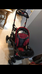 Baby trend sit & stand ultra stroller - mint condition!