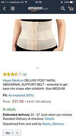 Delux post natal abdominal support belt