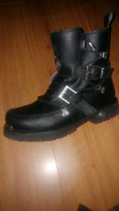 Harley Davidson black leather boots 13sz