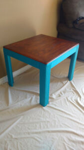 Coffee table end table centre piece refurbished solid wood