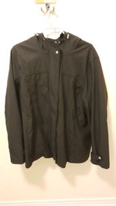 Womens 2X black plus size spring / fall jacket with hood!