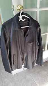 Mens large leather jacket