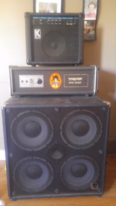 Amp and 4×10 half stack