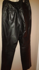 Womens Black Leather Pants for Sale
