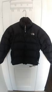 authentic north face bomber jacket/parka with hood, womens M
