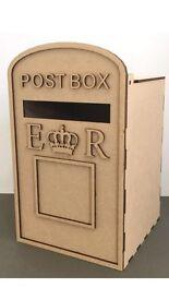 Wooden wedding post box