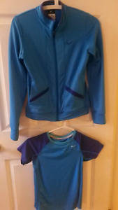 Girls Nike Dri Fit jacket and top set